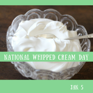 Whipped Cream DAy