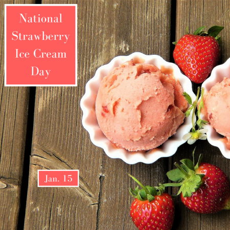 National Strawberry Ice Cream Day